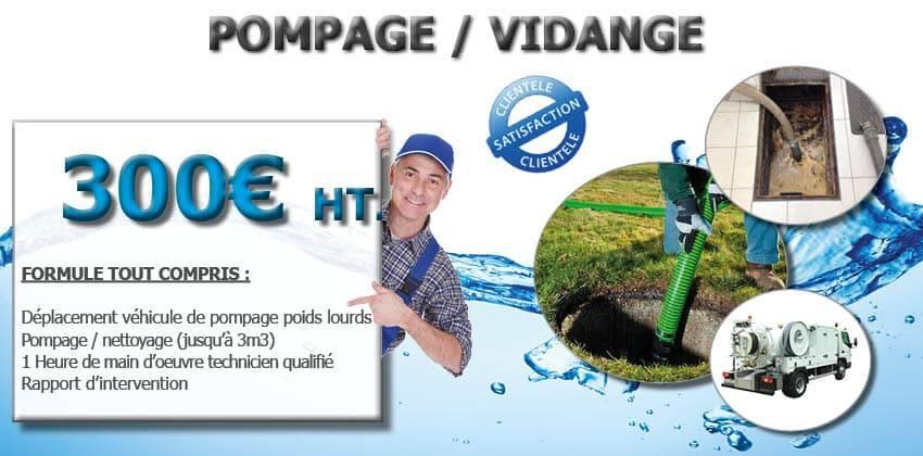 Pompage Vidange Dégorgement WC véhiculeur hydrocureur promotion