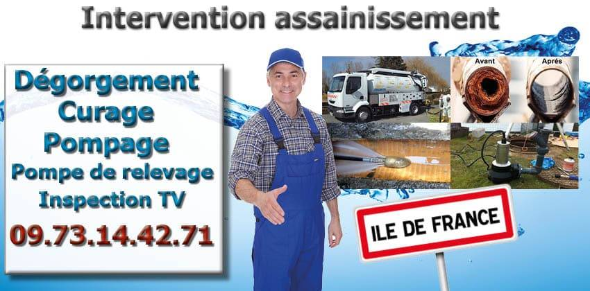 intervention assainissement dégorgemen curage pompage t